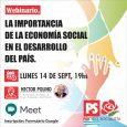 """Participaré del Webinario """"La importancia de la economía social en el desarrollo del país"""". ⏰Hoy Lunes14/9 a las 19 hs mediante Google Meet. ✍🏽 Inscribite para participar:https://forms.gle/1xhF2K5HsDgTQcGU6"""