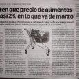 Nota: Ambito Financiero15/3/21 Advierten que precio de alimentos subió casi 2% en lo que va de marzo Lácteos y carnes encabezaron las alzas. Proyectan que el rubro puede volver a […]