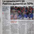 Nota: Diario Popular 24/3/21 La canastapara las Pascuas aumentó un 50%