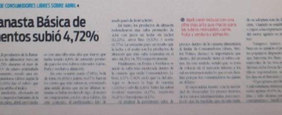 2/5/21 Diario Popular Edición Impresa: La Canasta Básica de Alimentos subió 4,72%